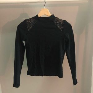 black long sleeve with lace